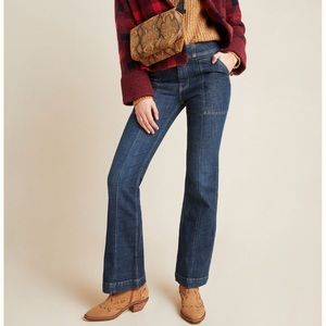 Anthropologie Pilcro High Rise Utility Boot Jeans